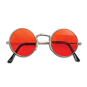 ORANGE HIPPY GLASSES JOHN LENNON SUNGLASSES (accesorio de disfraz)
