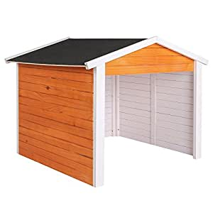 wiltec garage f r m hroboter aus holz rasenrobotergarage gartenhaus carport station. Black Bedroom Furniture Sets. Home Design Ideas
