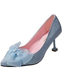 DIMAOL Zapatos de Mujer PU Primavera Otoño Comodidad Tacones Stiletto Talón Exterior Azul Negro Rosa