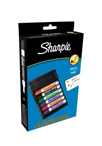 sharpie-743981-whiteboard-marker-bullet-tip-assorted-with-eraser-pack-of-6