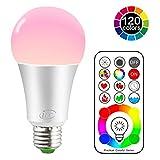 Ampoule Couleur LED E27 Telecommande 120 couleurs changeante RGB 10Watt Edison Screw