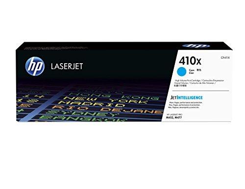 HP 410X (CF411X) Blau Original Toner mit hoher Reichweite für HP Color Laserjet Pro M452, HP Color Laserjet Pro M477