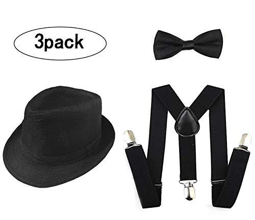 GCFIYPP 1920er Jahre Set Fedora Gangster Hut Kostüm -