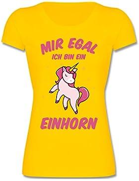 Sprüche Kind - Mir Egal Ich Bin ein Einhorn - Mädchen T-Shirt
