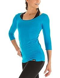 Winshape Yoga Pilates Fitness para Mujer 3 4-Arm Camiseta WS4 Turquesa  Turquesa Talla 8fd35eb21386d