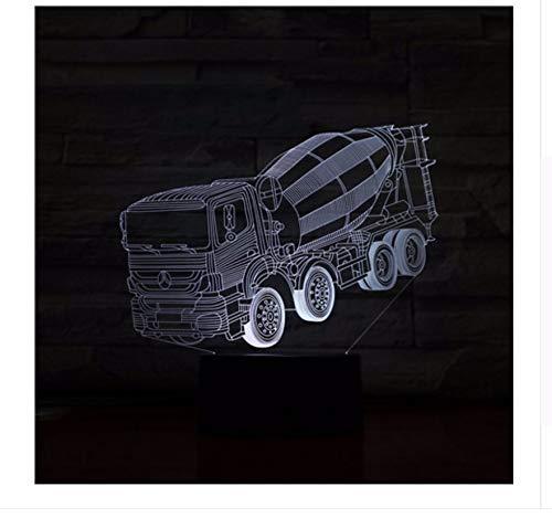 Mixer truck 3d stereo lampe schlafzimmer led atmosphäre kreative nachttisch leuchten usb nachtlicht kinder licht box Kindertagsgeschenke (Truck-box Licht)