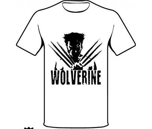 Monkey Design - T-Shirt Wolverine - X-Men, Colore: bianca, Taglia: XXL