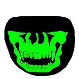 Eizur Leuchtend Mund Gesicht Maske Mundmaske Unisex Baumwolle Schädel Skelett Anti-Staub Warm Kreativ Mundschutz Maske Gesichtsmaske Schwarz--Stil 3