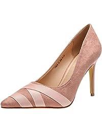 Rosa Tacón Mujer Para Amazon es Zapatos Honor De qFHFE