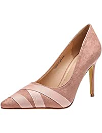 Huatime Mujer Zapatos de Tacón - Tacones Altos Moda Correa Cruzada Aguja High  Heel Retro Vestido Sexy Boda Novia Pumps Shoes Stiletto… 242ce0e83da0