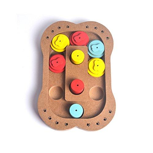 PETCUTE Pet Intelligence Spielzeug Puzzle Gericht Langsamfutterschale Kreativ Interaktiv Hölzern Hunde IQ Ausbildung Teller Spielzeug Verstecken suchen Hundewelpe Orientalische Speisen