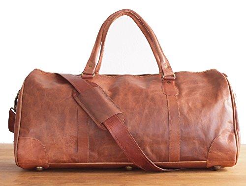 Vintage Design - M Vintage Leder Weekender Reisetasche Sporttasche Reisegepäck Bordtasche Freizeittasche Doktortasche Vintage Ledertasche Groß Britisch Klassiker Retro