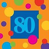 Birthday Stripes 80 Beverage Napkins