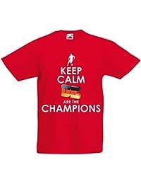 Camiseta Niños/Niñas Los alemanes Son los campeones - Campeonato de Rusia 2018, Copa Mundial de Fútbol, Equipo de la Camiseta del Ventilador…