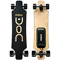Nilox Unisex Youth DOC Longboard Electric, Schwarz/Gold, Universal