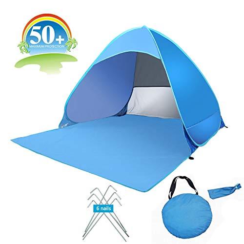 UMsky Automatik Instant Portable Pop Up Strandmuschel, 2-3 Person UV Protect Sun Shelter Zelt.