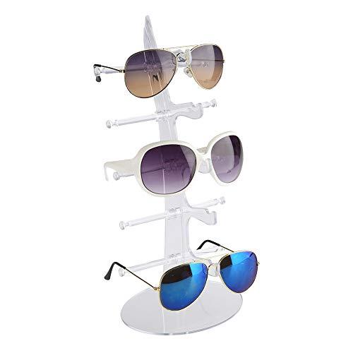 Brillenständer Brillenanzeige Halter Brillenregal Brillenaufsteller Sonnenbrillen Ständer Rack Lagerung Inhaber Verkauf Vitrine, 5 Paar Brillenhalter zur Aufbewahrung und Präsentation (Transparent)
