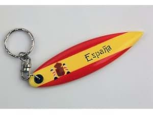 Lot de 6 porte-clé bois planche de Surf Espagne Espana ESPAÑA