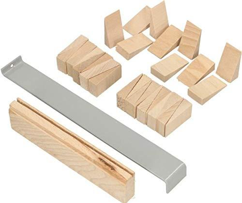 KOTARBAU Verlegeset 32tlg. Set Parkett Laminat aus Holz Montagekeile Zugeisen Schlagleiste Holzkeile Laminatverlegen Parkettverlegen Top-Qualität
