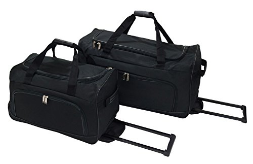 "Set de 2 bolsas de viaje Utopia "" Black "" – Cabina / media Con ruletas"