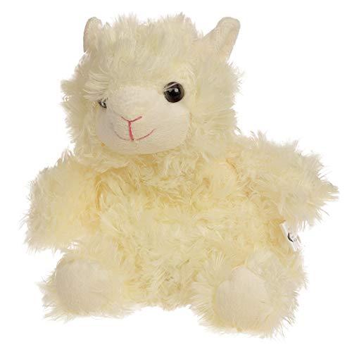 Körnerkissen Alpaka-Form für Kinder, gefüllt mit Weizenkörnern, waschbarer Bezug aus Plüsch. Maße: 30 x 24 x 8,5 cm. Das Wärmetier eignet sich perfekt als Einschlafhilfe. Farbe:weiß