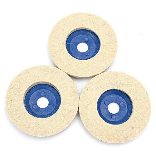 CloudWhisper 10 Stück 4-Zoll-Wolle Polierscheibe verschleißfesten Winkelschleifer Räder Polierscheiben Filz polnischen Scheibe