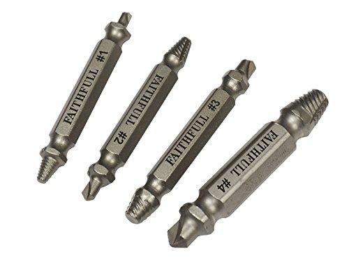 Faithfull 4 Piece Screw Extractor Kit - Faithfull Screw