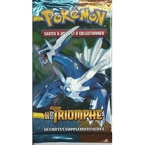 """Booster de 10 cartes Pokémon HS TRIOMPHE RARE NEUF FR """"image Dialga"""""""