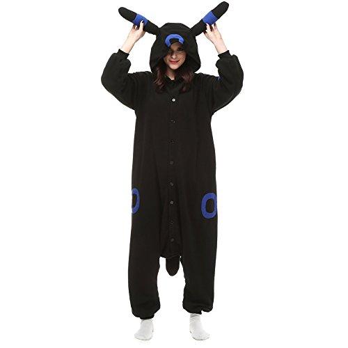 Imagen de adulto unisexo umbreon amarillo umbreon azul pokémon pikachu onesie fiesta disfraz de kigurumi con capucha pijama sudadera ropa para dormir regalo de navidad umbreon azul, l height 170cm 180cm