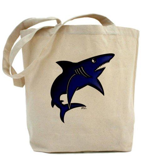 CafePress-Blau Mako Shark-Leinwand Natur Tasche, Reinigungstuch Einkaufstasche -