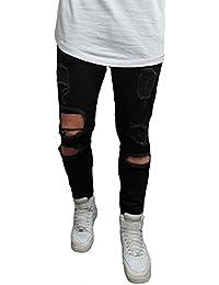 HERREN JEANS RÖHRENJEANS mit Risse Original destroyed Style Herrenjeans Biker Jeanshose Stretch black vintage Neu Blau Skinny Denim slim fit straight hose röhre shirt eng