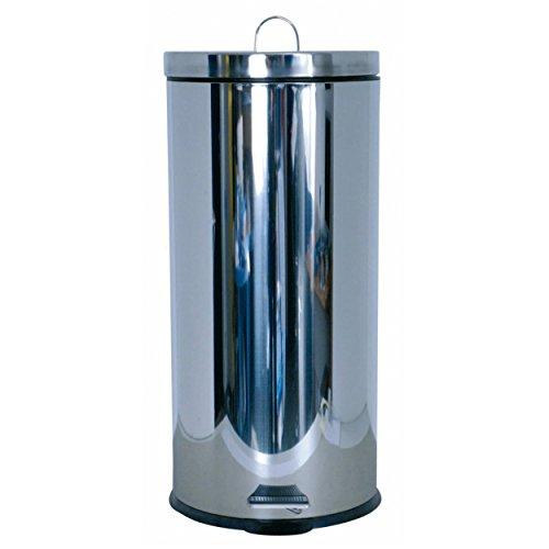MSV 100359Abfalleimer Kunststoff Silber 29x 29x 63cm