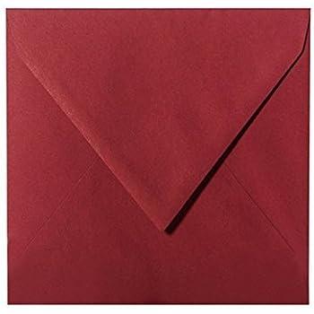 feuchtklebend Grammatura 120/G//M/² briefumschlaege24/Plus 100/Buste 15/x 15/cm 150/X 150/mm Bordeaux chiusura
