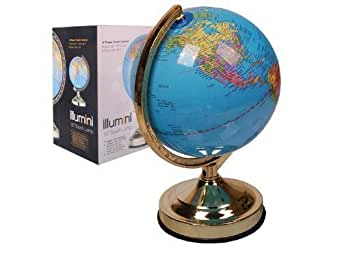 Globe lumineux mappemonde illumini 33 cm diam tre lampe for Globe lumineux exterieur