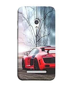 PrintVisa Designer Back Case Cover for Asus Zenfone 5 A501CG (Classy Re Colour Car )