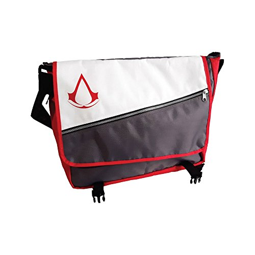 Bioworld ASSASSIN'S CREED Red Core Crest Emblem Logo Messenger Bag, Multi-colour (MB070306ASC) Umhängetasche, 46 cm, Grau (Grey)