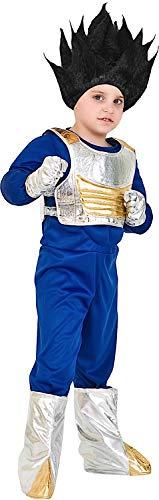 Costume di carnevale da guerriero vege baby vestito per bambino ragazzo 1-6 anni travestimento veneziano halloween cosplay festa party 3673 taglia 6