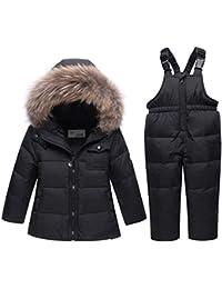 Nieve Invierno Ropa Set Baby Toddler Girls Chicos Lindo invierno cálido traje de nieve de dos