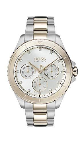 Hugo Boss Watch Femmes Multi-Cadrans Quartz Montre avec Bracelet en Acier Inoxydable 1502446