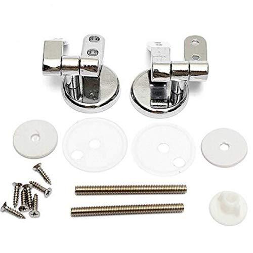 1 Paar WC Sitz Scharnier Befestigung für WC Sitz Abdeckung Deckel mit Montage Zubehör, aus rostfreiem Zink