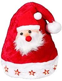 Alsino Weihnachtsmütze mit Blinksternen und Weihnachtsmann wm-46a