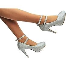 Tinsel Zapatos de Vestir de Purpurina Para Mujer