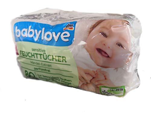 babylove Feuchttücher sensitive 4x80 Stück, 320 St
