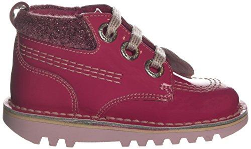 Kickers Kick Hi Colfi Patl If, Bottes Classiques fille Rose (Pink)