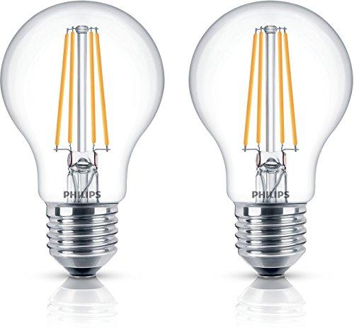 Philips LEDclassic Lampe ersetzt 60W, E27, warmweiß (2700 Kelvin), 806 Lumen, Doppelpack