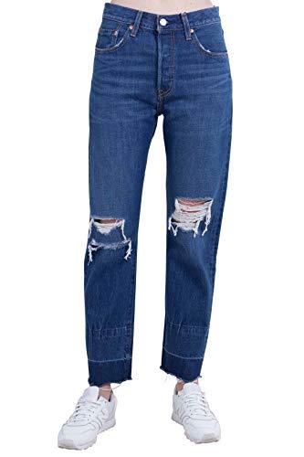 LEVI'S Women - 501® Original Cropped Jeans in dark blue denim - Size 26 - Levis 501 Jeans Womens