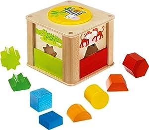 HABA 301701 Juguete de construcción - Juguetes de construcción (Stacking Blocks, Multicolor, 1 yr(s), Boy/Girl, Children, Zoo)