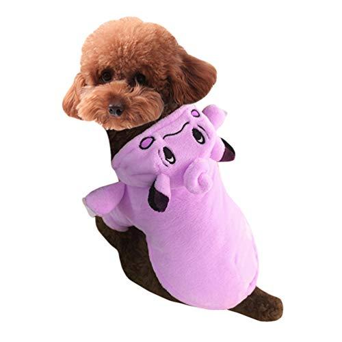 Jitong Niedlich Cosplay Outfit für Kleine Hunde, Haustier Pokémon Kostüm, Katzen Verkleidung für Halloween (Cartoon, Größe XL)