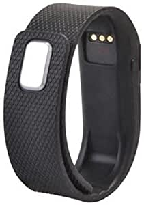 Tuzech Digital Fitness Tracker Vibration With Step Counter and All Notifications (Black)