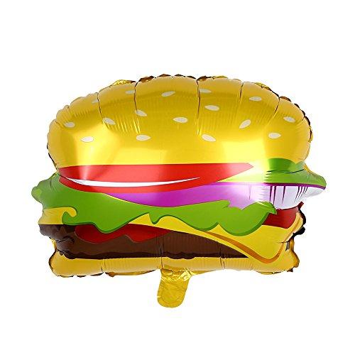 TOPmountain Palloncini Foil per Hamburger Decorazioni per Feste di Compleanno Kids Donut Globos Giocattoli gonfiabili Aerostati per Feste Articoli per Feste Baby Shower